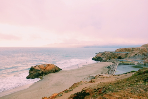 Sutro Baths Sunset, Ocean Beach, San Francisco