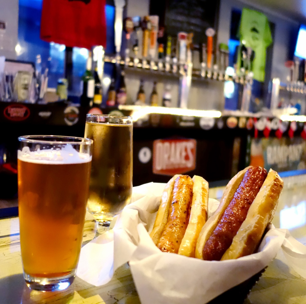 Truckee Mellow Fellow Beer and Local Sausages