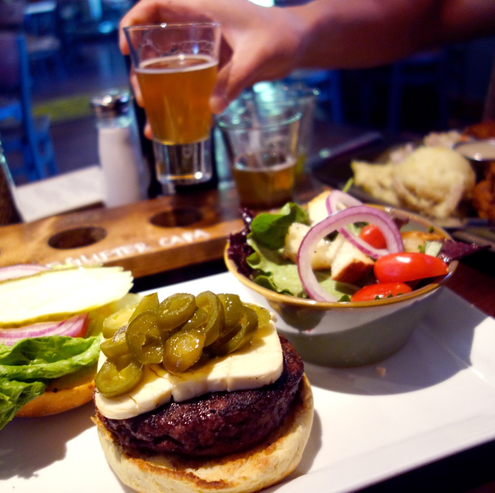 Fifty Fifty Brewing Co. Truckee Burger Beer Eclipse