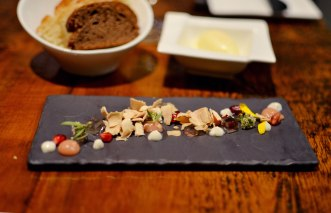 Snow and Ice, Foie Gras, Quince, Vanilla, Pomegranate Trokay Truckee