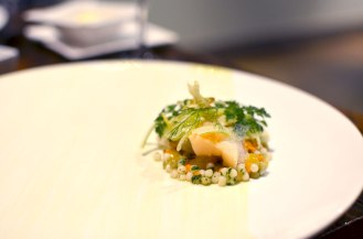 Blue Crab, Taylor Bay Scallop, Sea Urchin, A Taste of the Sea, Fennel, Meyer Lemon Trokay Truckee