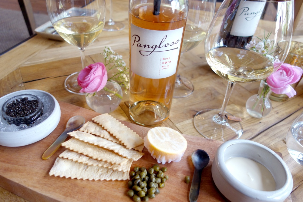 Pangloss Cellars Wine Tasting Sonoma Caviar