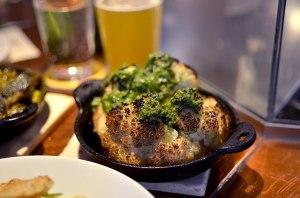 Wood Oven Fired Cauliflower Salsa Verde Glen Ellen Star