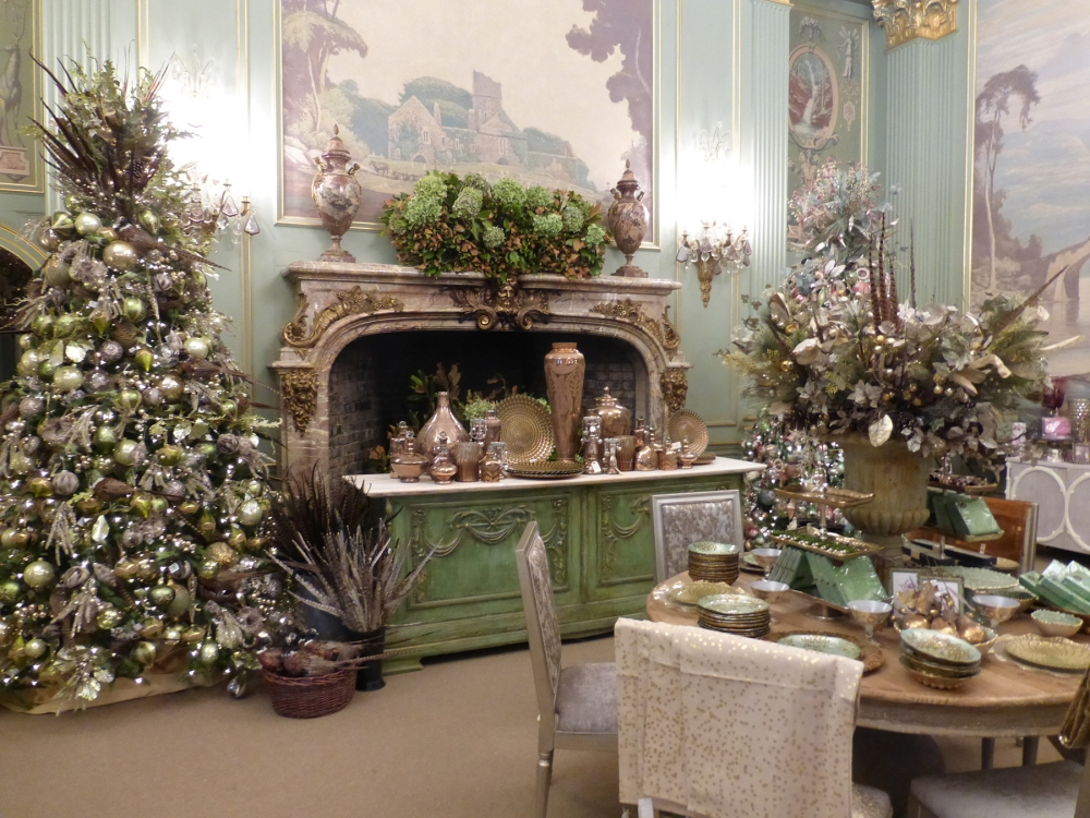 Filoli House during the holidays