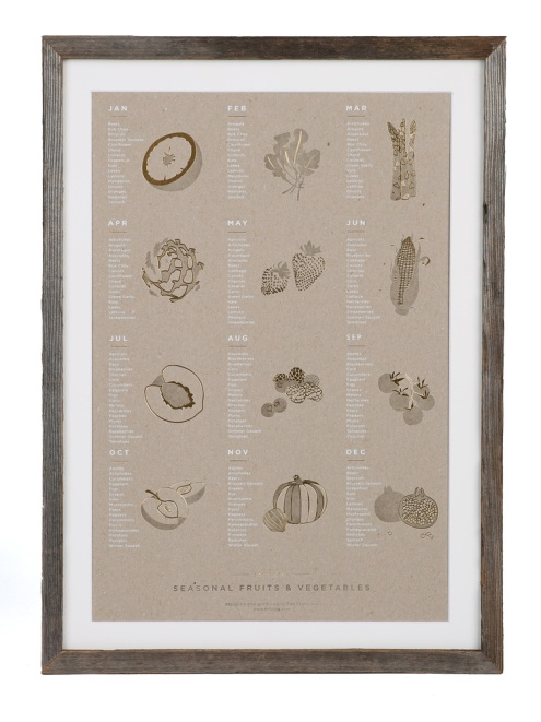 Bay Area Buzz Local Holiday Gift Guide seasonal Veggies Poster YAC