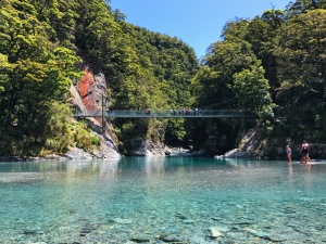 Blue Pools Walk Suspension Bridge New Zealand
