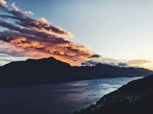 Skyline Queenstown Sunset New Zealand