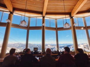 Bar with a view at Squaw Valley High Camp