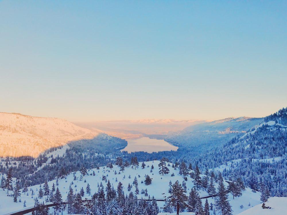 Donner Lake, Truckee CA Sunset Winter