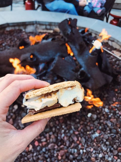Ritz Carlton Lake Tahoe S'mores marshmallow fire pit