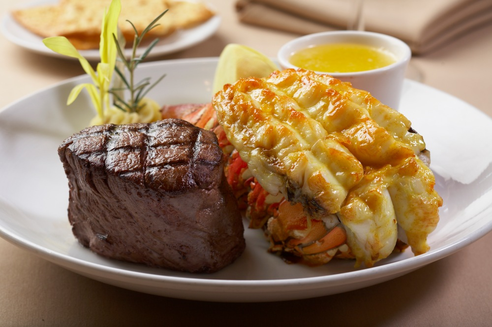 The Steakhouse at Spa Resort Casino surf & turf