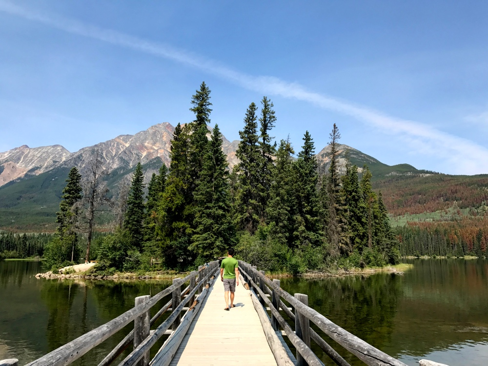 Pyramid Lake, Pyramid Island, Jasper National Park, Alberta, Canada