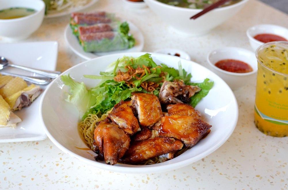Mi Ga Roti Chicken with Dry Egg Noodle Pho Ha Noi San Jose