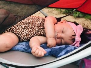 Maui Baby Travel Guide Sleeping Beach Baby