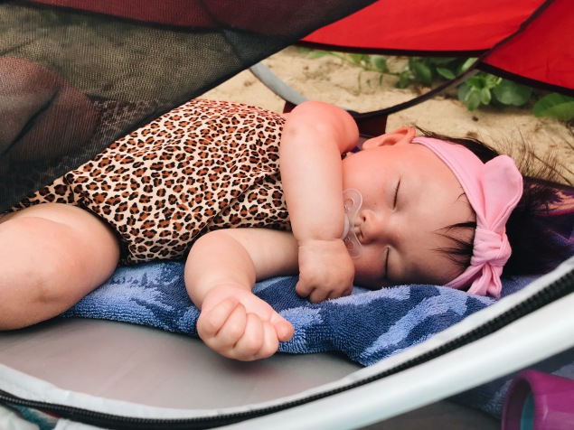 Maui Baby Travel Guide Sleeping Beach Baby