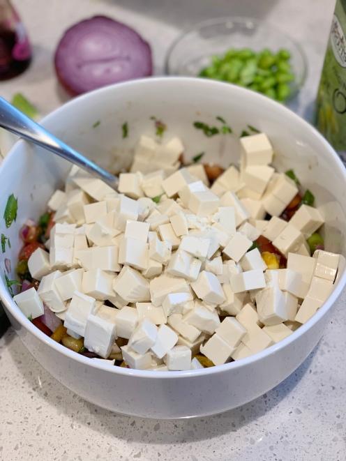 Tofu Tomato Poke Recipe with Mori-Nu Silken Tofu